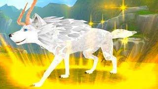 Симулятор маленького ВОЛЧОНКА #1 Эволюция волков. Волчья семья с дикими животными на пурумчата