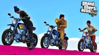 GTA V Online: EU, DAVY E DINATA NO SKILL TEST DA AMIZADE #47