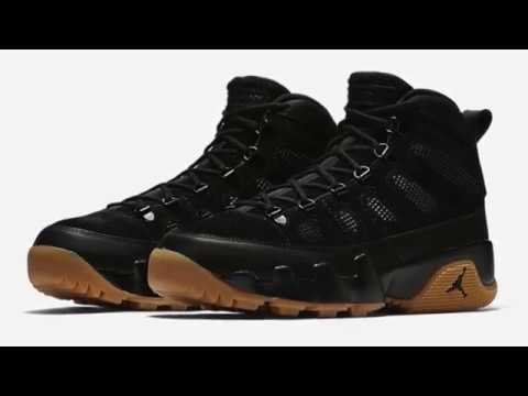 0c7900ce27fdc1 AIR JORDAN IX BOOT NRG - BLACK LIGHT GUM - YouTube