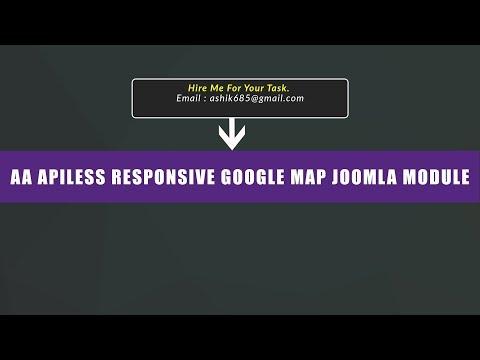 Joomla Module : AA Responsive Google Map [Apiless]