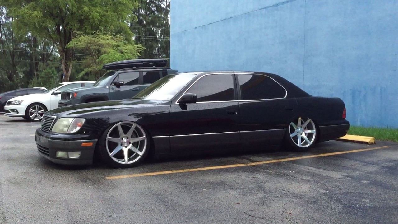 bagged on airrex 1998 lexus ls 400 x vossen cv7 walkaround 4k youtube. Black Bedroom Furniture Sets. Home Design Ideas