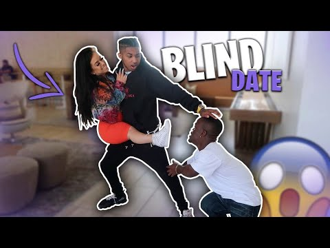 I PUT MY FRIEND DDG ON A BLIND DATE WITH A LIL PERSON! *her Boyfriend Came*