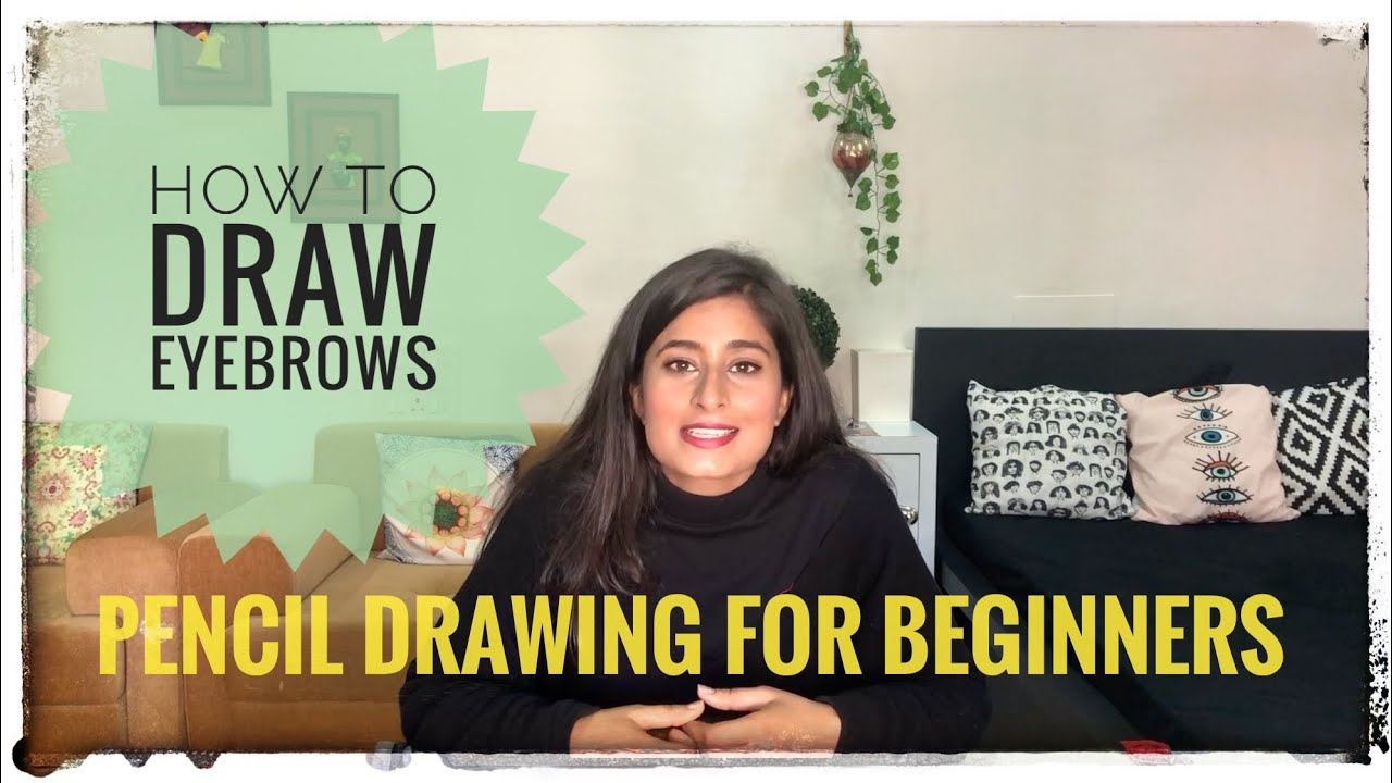 How to draw eyebrows for beginners | Step by Step Pencil ...