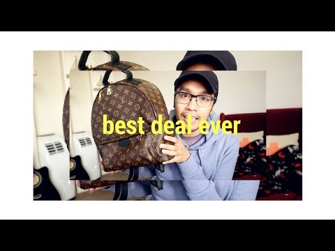 BEST DEAL EVER!!! // LOUIS VUITTON PALM SPRINGS BACKPACK in MM UNBOXING