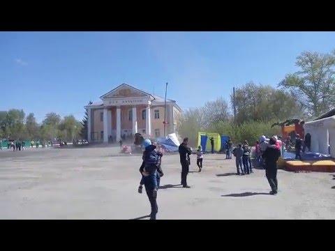 Смерч в Куртамыше, в День Победы, через 15 минут после окончания парада.