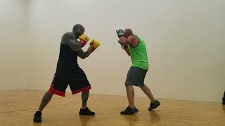Four 10 min rounds, with 155 pound mma belt holder sponge bob