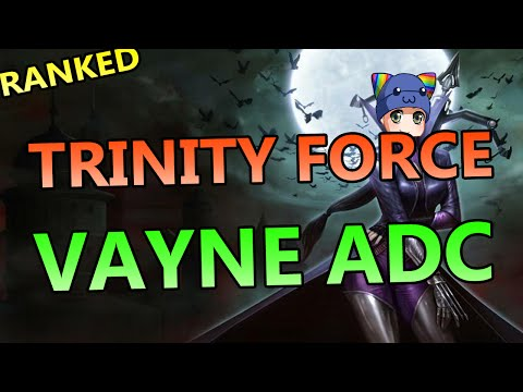 Trinity Force Vayne Build ADC - Full Ranked Gameplay Commentary