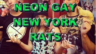NEON GAY NEW YORK RATS