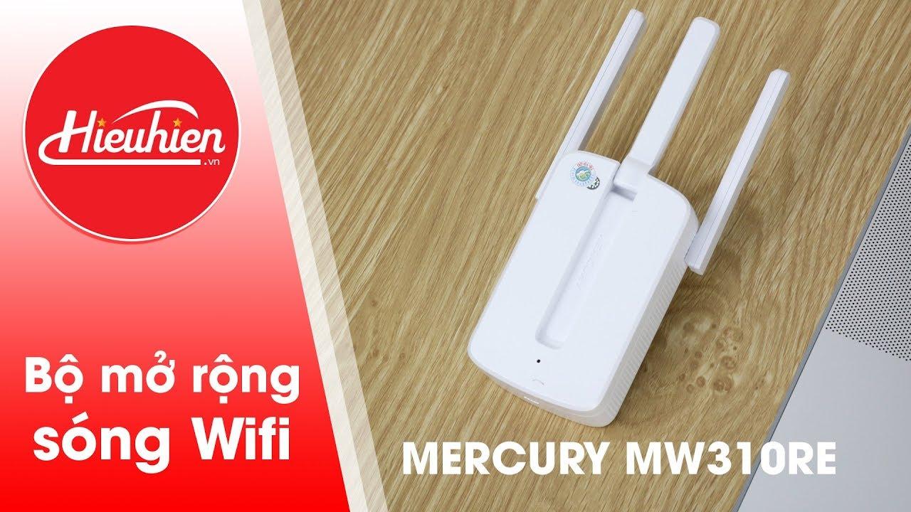 Cách cài đặt kích sóng Wifi tốc độ cao Mercury MW310RE ✅3 Anten✅ | [Hieuhien.vn]
