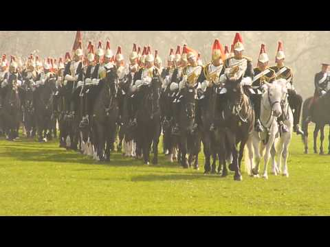 Household Cavalry rehearsal  for the Major General's review