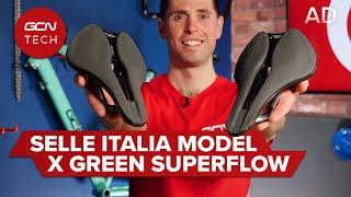 NEW Selle Italia 모델 X Green Superflow 안장 | GCN 기술 개봉기