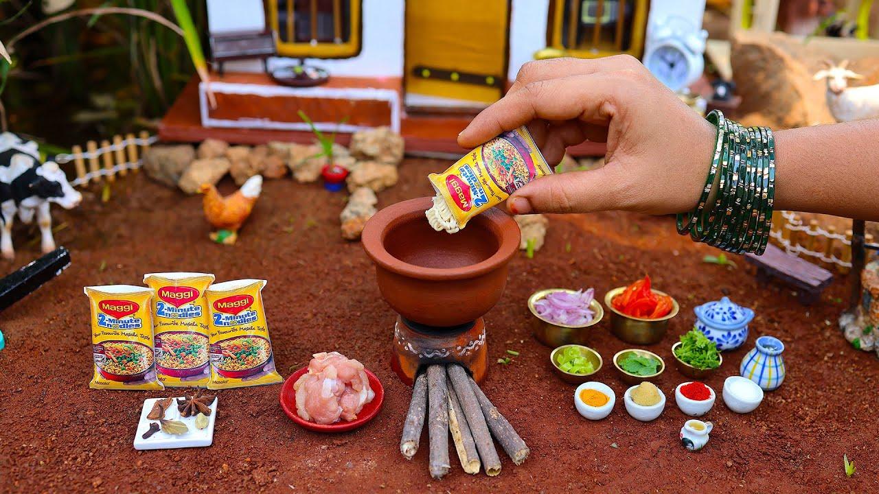Biryani Maggi Noodles   How To Prepare Chicken Biryani Maggi Noodles   Maggi recipe   The Tiny Foods