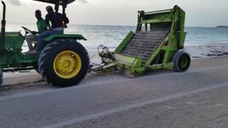чистка пляжа в доминикане