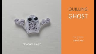 How to make a quilling ghost - easy tutorial, Alberta Neal