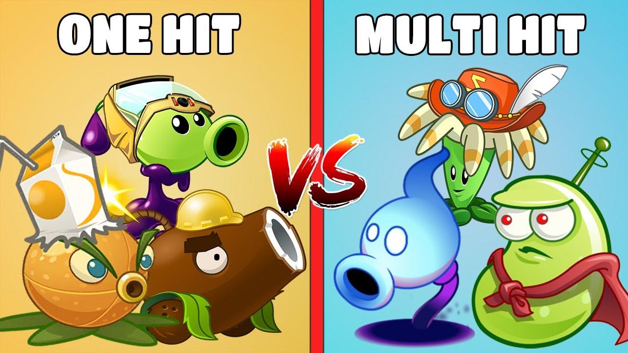 PvZ 2 Team Plants ONE HIT Vs Team Plants MULTI HIT - Which Team Plants Is Best?