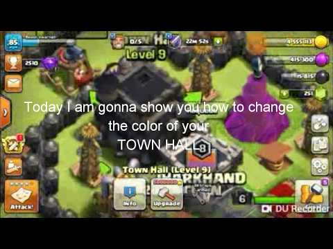 Clash Of Clans | How To Change The Color Of Your TownHall?