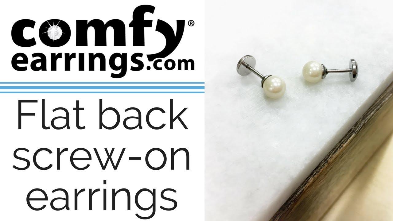 Flat Back On Pearl Earrings Comfyearrings
