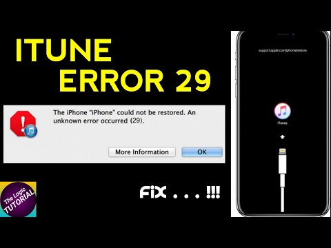 Cara Mengatasi Flashing Iphone ERROR 29,An Unknown Error Ocurred ITUNES.