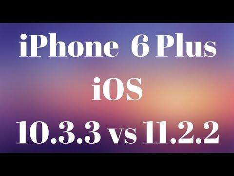 iOS 10.3.3 vs iOS 11.2.2   iPhone 6 Plus   Antutu Benchmark