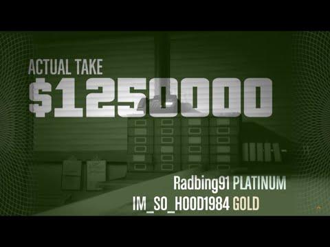 GTA V: Pacific Standard Bank Heist- All the Money!!!- On the Bikes- No Kuruma- No Cheating