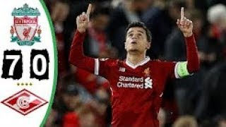 Liverpool 7 - 0  Spartak Moscow | Champions League | 06/12/2017