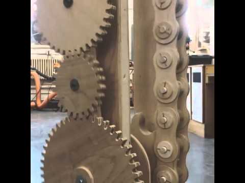 Wooden Roller Chain - Made with BobCAD-CAM  CNC CAD-CAM Software