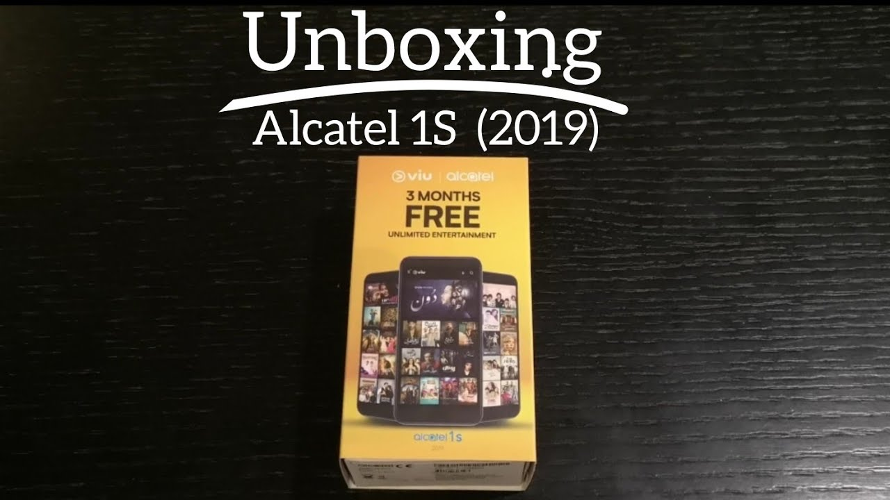 Alcatel 1S Unboxing and 1st Thoughts