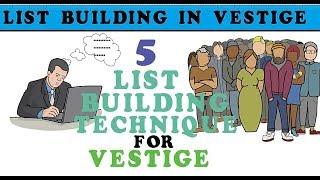vestige company  list building in 2018, vestige marketing private limited presentation list