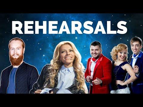 Eurovision 2018 Rehearsals - Denmark, Russia & Moldova (Press Center)