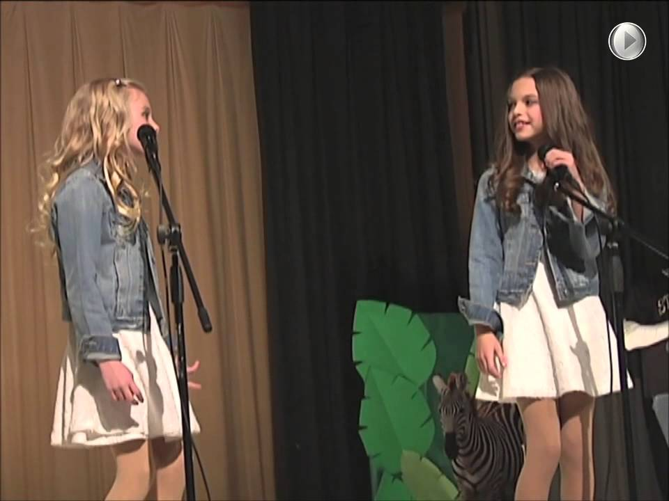 Ava and Mirabella Win 1st Place Talent Show Singing Acapella