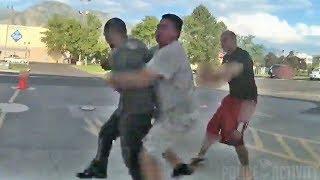 Bystander Body Slams Man Who Attacked Utah Cop