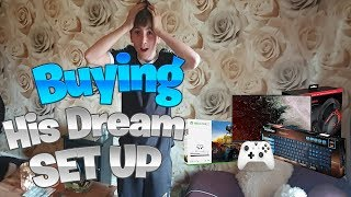 Surprising My Little Brother With His Dream Gaming Set Up!
