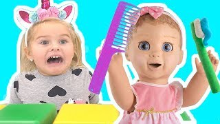 Brush Your Teeth Song + More nursery rhymes  from Sweet Emily