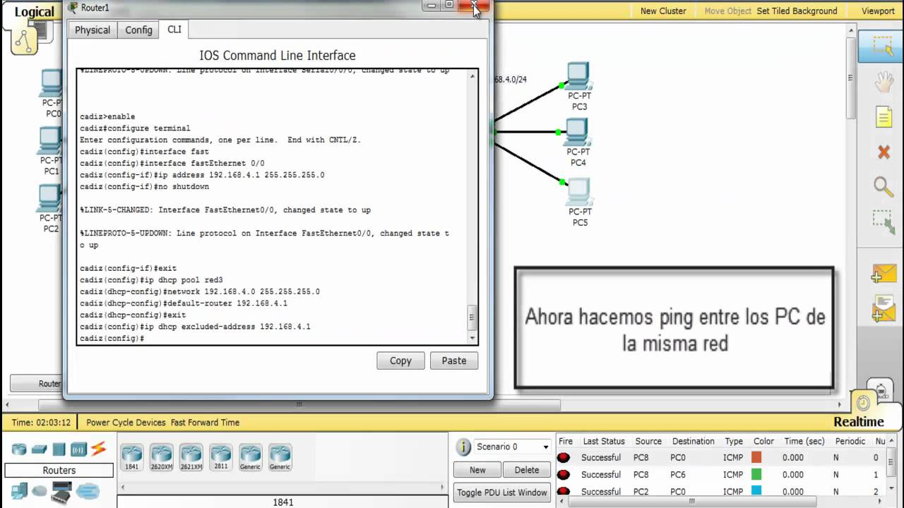 Configuracion IPv4 DCHP + Frame Relay en router Packet Tracer - YouTube