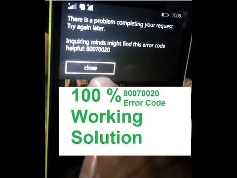 There Is Problem Completing Your Request. Error Code 80070020 Best Solution
