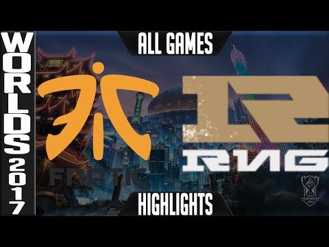 FNC vs RNG Highlights ALL GAMES - Worlds 2017 Quarterfinals Fnatic vs Royal Never Give Up ALL GAMES