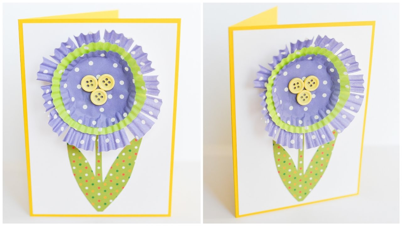 How To Make Easy Simple Card Mother 39 S Day Flower Step