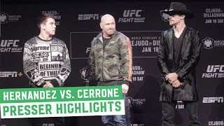 Donald Cerrone vs. Alex Hernandez: Press Conference Back & Forth Highlights   UFC on ESPN+1