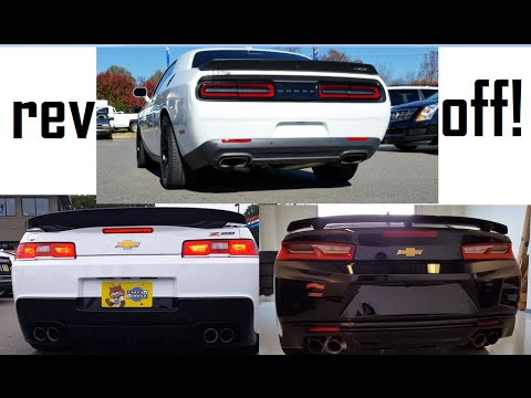 2015 Dodge Hellcat VS 2016 Chevrolet Camaro SS VS 2014 Chevrolet ...