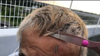 カリスマ美容師がオヤジを夏使用にヘアカットしてあげた