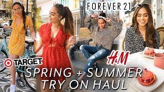 HUGE SPRING + SUMMER TRY ON HAUL // FOREVER 21, H&M, TARGET, + MORE! ♡