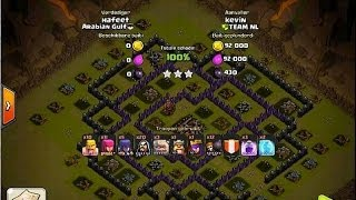 Clash of Clans - ClanWars TEAM NL 100% Series Kevin Vs Hafeet GoWiWI Attack Strategy