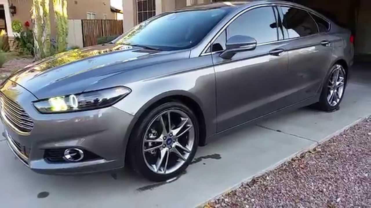 Custom 2015 Ford Fusion >> 2013/2014 Custom Titanium Ford Fusion Headlights - YouTube