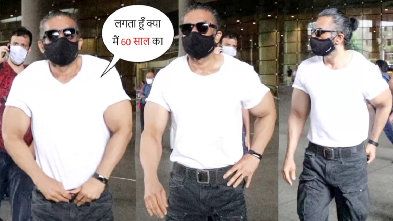Suniel Shetty Anna Inconceivable Fitting Body😨, Father Of Two Kids Aged 28 Year & 25 Years Old🙏