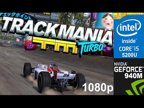 TrackMania Turbo on HP Pavilion 15-ab032TX, 1080p, Core i5 5200u + Nvidia Geforce 940m