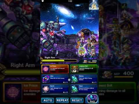 FFBE - Aigaion Right Arm then Body Route Demo - Budget