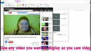 HOW TO USE FAKE WEBCAM FOR VIDEO CHAT ON OMEGLE SKYPE AND ALL OTHERS