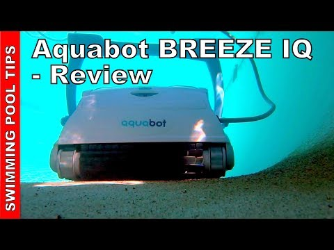 Thumbnail: Aquabot Breeze IQ Robotic Pool Cleaner: 60 ft of Cable & Filters Down to 2 Microns!