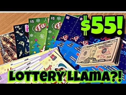 WINS!! THERE'S A LLAMA ON THIS LOTTERY TICKET!! $50 IN OREGON LOTTERY! Day 5 Of 25 Days Of Christmas