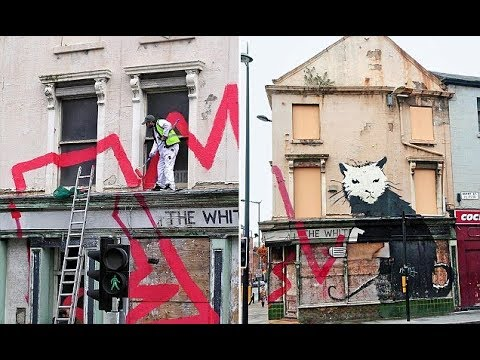 Banksy is c aught red handed!